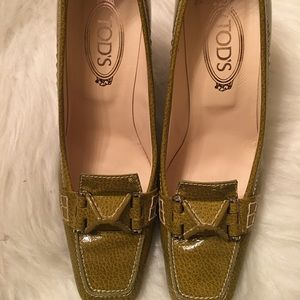 Tod's Patent Leather Swing Selleria Loafer Pump